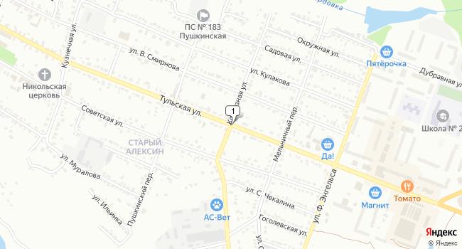 Купить коммерческую недвижимость 189 м<sup>2</sup> в Алексине по адресу Россия, Тульская область, Алексин, Тульская улица