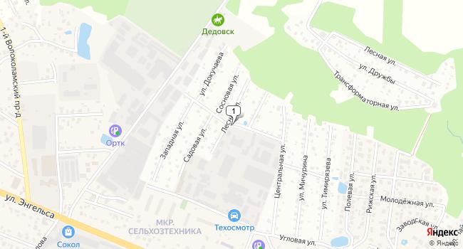 Арендовать склад 300 м<sup>2</sup> в Дедовске по адресу Россия, Московская область, Истринский район, Дедовск, Центральная улица