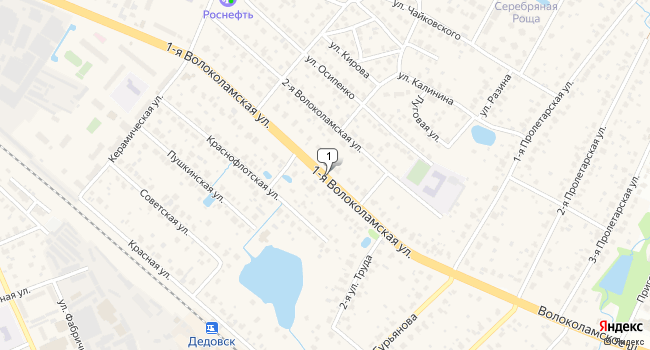 Арендовать склад 735 м<sup>2</sup> в Дедовске по адресу Россия, Московская область, Истринский район, Дедовск, Волоколамское шоссе
