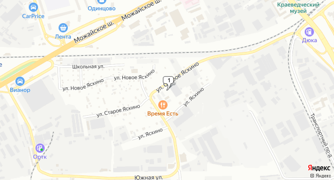 Арендовать склад 2700 м<sup>2</sup> в Одинцово по адресу Россия, Московская область, Одинцово, улица Старое Яскино, 24
