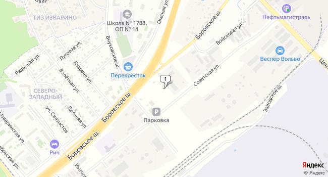 Арендовать склад 900 м<sup>2</sup> в посёлке Внуково по адресу Россия, Москва, поселок Внуково, Советская улица, 10