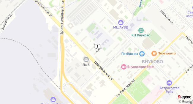 Арендовать офис 25 м<sup>2</sup> в посёлке Внуково по адресу Россия, Москва, поселок Внуково, Центральная улица, 11