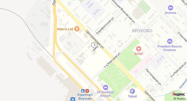 Арендовать склад 1500 м<sup>2</sup> в посёлке Внуково по адресу Россия, Москва, поселок Внуково, Центральная улица, 2с1А