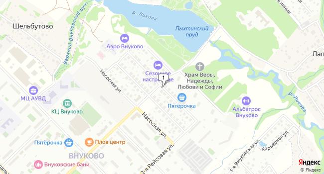 Арендовать торговую площадь 1189 м<sup>2</sup> в посёлке Внуково по адресу Россия, Москва, поселок Внуково, Плотинная улица