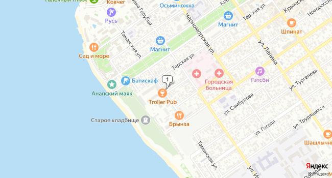 Арендовать торговую площадь 400 м<sup>2</sup> в Анапе по адресу Россия, Краснодарский край, Анапа, Крымская улица, 3