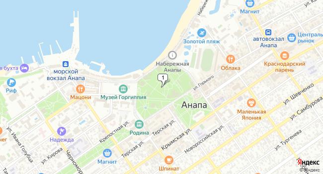 Арендовать торговую площадь 15 м<sup>2</sup> в Анапе по адресу Россия, Краснодарский край, Анапа, парк имени 30-летия Победы