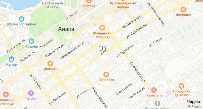 Арендовать офис 1000 м<sup>2</sup> в Анапе по адресу Россия, Краснодарский край, Анапа, улица Самбурова