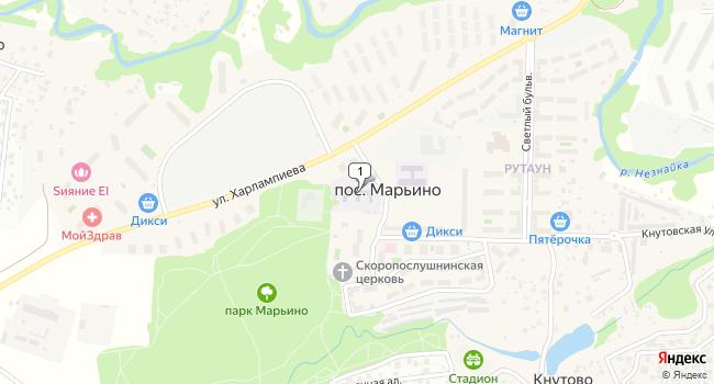 Купить земельный участок 2800 м<sup>2</sup> в г. посёлок Марьино по адресу Россия, Москва, поселение Филимонковское, поселок Марьино, 1