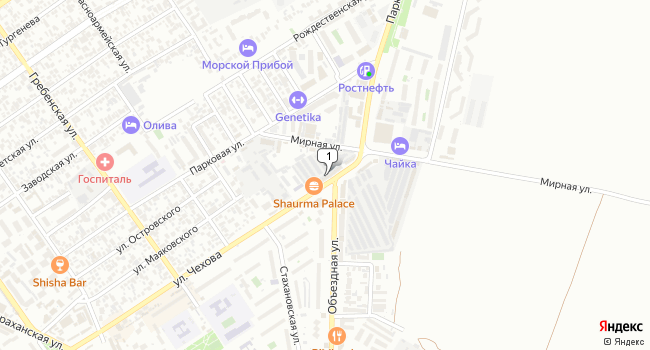 Арендовать торговую площадь 180 м<sup>2</sup> в Анапе по адресу Россия, Краснодарский край, Анапа, улица Чехова, 71