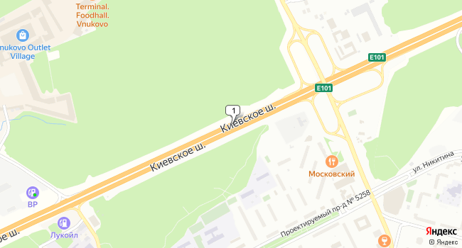 Арендовать склад 1000 м<sup>2</sup> в Московском по адресу Россия, Москва, Московский, Киевское шоссе