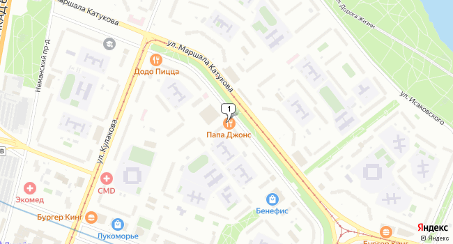 Арендовать торговую площадь 100 м<sup>2</sup> в Москве по адресу Россия, Москва, улица Маршала Катукова, 10
