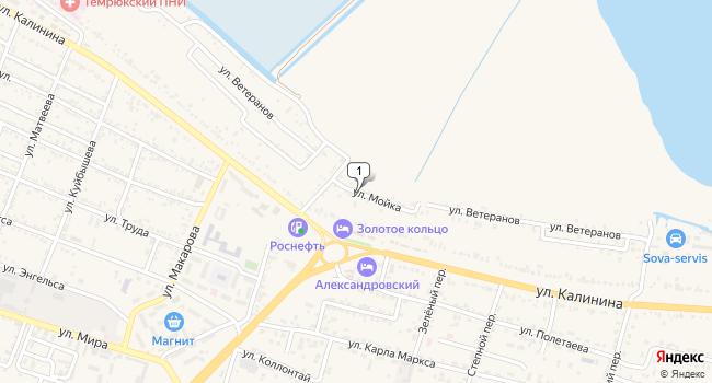 Купить земельный участок 2500 м<sup>2</sup> в Темрюке по адресу Россия, Краснодарский край, Темрюк, улица Мойка