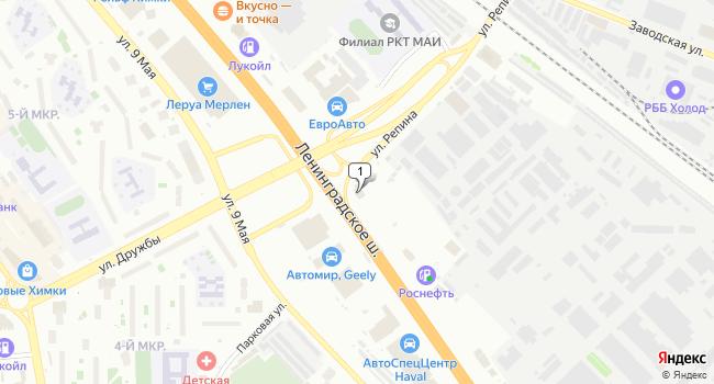 Арендовать офис 290 м<sup>2</sup> в Химках по адресу Россия, Московская область, Химки, улица Репина, 2/27
