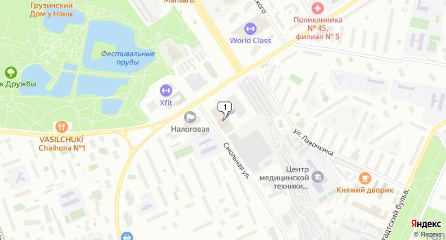 Арендовать склад 1380 м<sup>2</sup> в Москве по адресу Россия, Москва, Смольная улица, 14