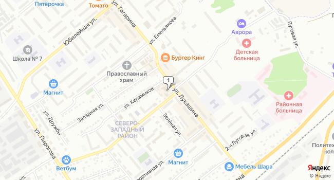 Арендовать торговую площадь 90 м<sup>2</sup> в Щекино по адресу Россия, Тульская область, Щёкино, улица Лукашина, 13