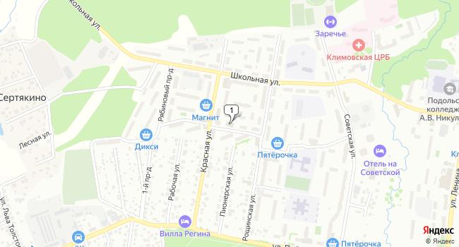 Купить торговую площадь 960 м<sup>2</sup> в Подольске по адресу Россия, Московская область, Подольск, микрорайон Климовск, Садовая улица, 4Б