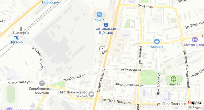 Арендовать торговую площадь 135 м<sup>2</sup> в Щекино по адресу Россия, Тульская область, Щёкино, Советская улица, 18