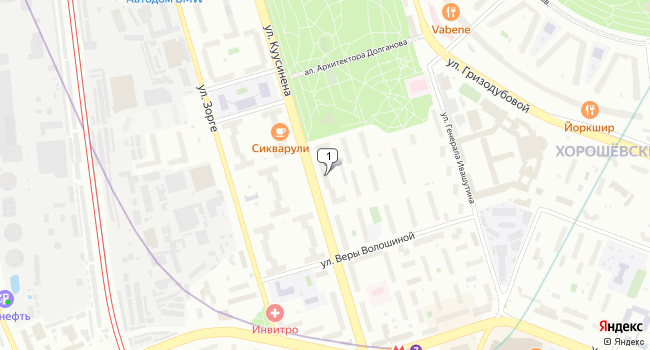 Арендовать торговую площадь 150 м<sup>2</sup> в Москве по адресу Россия, Москва, улица Куусинена, 6к2