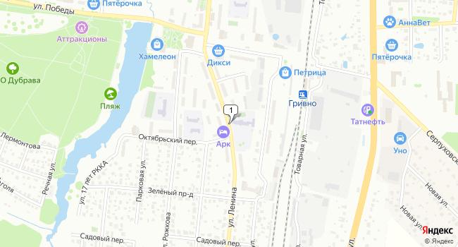 Арендовать производственное помещение 220 м<sup>2</sup> в Климовске по адресу Россия, Московская область, Климовск, улица Ленина