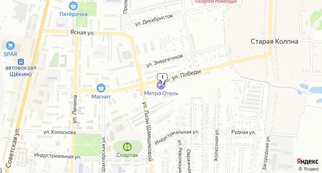 Арендовать коммерческую недвижимость 1200 м<sup>2</sup> в Щекино по адресу Россия, Тульская область, Щёкино, улица Победы, 16