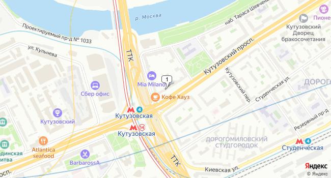 Купить офис 220 м<sup>2</sup> в Москве по адресу Россия, Москва, Кутузовский проспект, 30/32