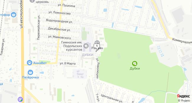 Арендовать склад 2100 м<sup>2</sup> в Климовске по адресу Россия, Московская область, Климовск, улица Революции