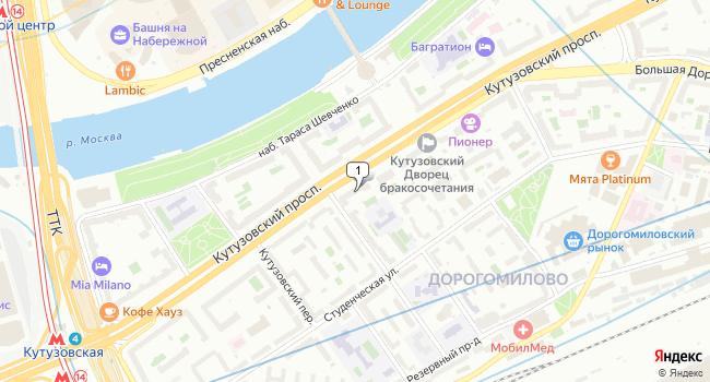 Арендовать торговую площадь 114 м<sup>2</sup> в Москве по адресу Россия, Москва, Кутузовский проспект, 27