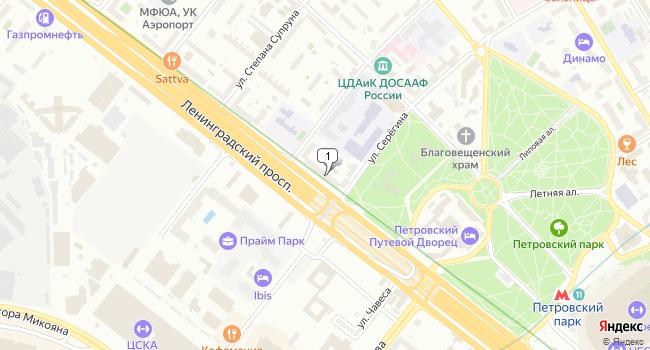Купить торговую площадь 458 м<sup>2</sup> в Москве по адресу Россия, Москва, Ленинградский проспект, 44