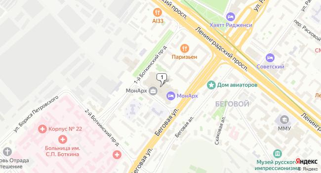 Купить торговую площадь 577 м<sup>2</sup> в Москве по адресу Россия, Москва, Ленинградский проспект, 31Ас1