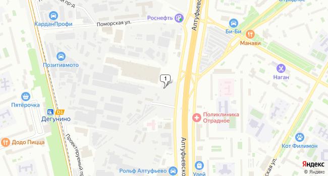 Арендовать склад 798 м<sup>2</sup> в Москве по адресу Россия, Москва, Алтуфьевское шоссе, 37а