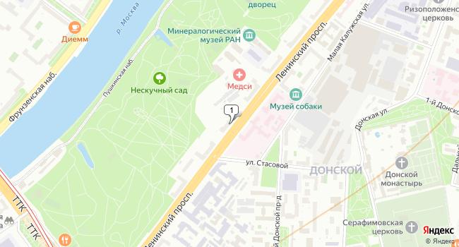 Арендовать торговую площадь 80 м<sup>2</sup> в Москве по адресу Россия, Москва, Ленинский проспект, 22