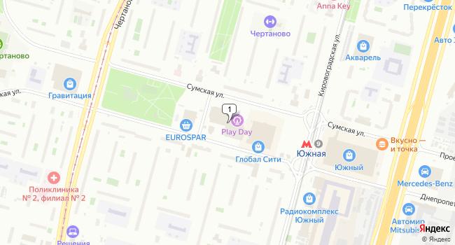 Арендовать торговую площадь 192 м<sup>2</sup> в Москве по адресу Россия, Москва, Днепропетровская улица, 2