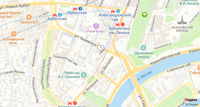 Арендовать офис 137 м<sup>2</sup> в Москве по адресу Россия, Москва, улица Знаменка, 7с3