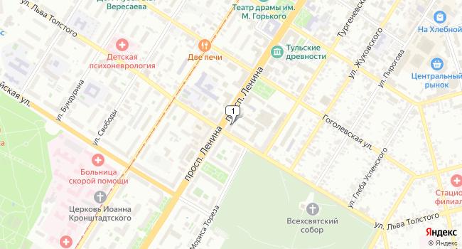 Арендовать офис 65 м<sup>2</sup> в Туле по адресу Россия, Тула, проспект Ленина, 57