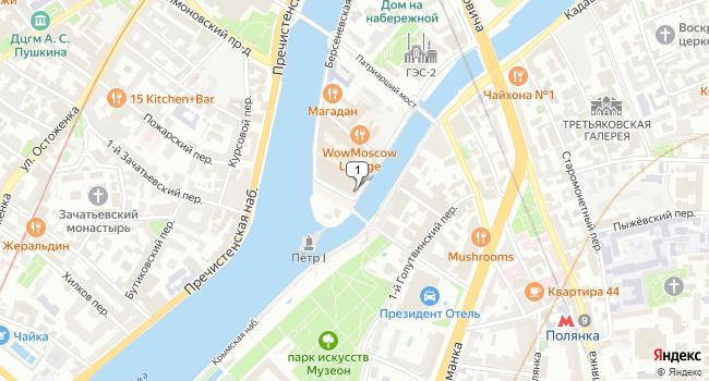 Арендовать кафе-ресторан 725 м<sup>2</sup> в Москве по адресу Россия, Москва, Болотная набережная, 3с1