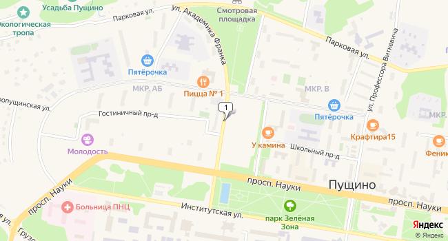 Купить торговую площадь 252 м<sup>2</sup> в Пущино по адресу Россия, Московская область, Пущино, улица Академика Франка
