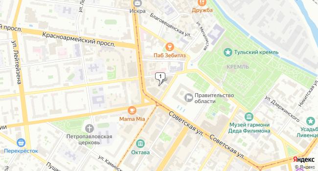 Арендовать офис 25 м<sup>2</sup> в Туле по адресу Россия, Тула, Советская улица, 31