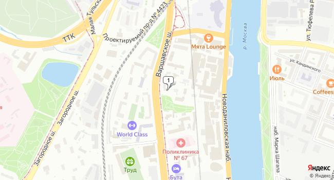 Арендовать офис 59 м<sup>2</sup> в Москве по адресу Россия, Москва, Варшавское шоссе, 13