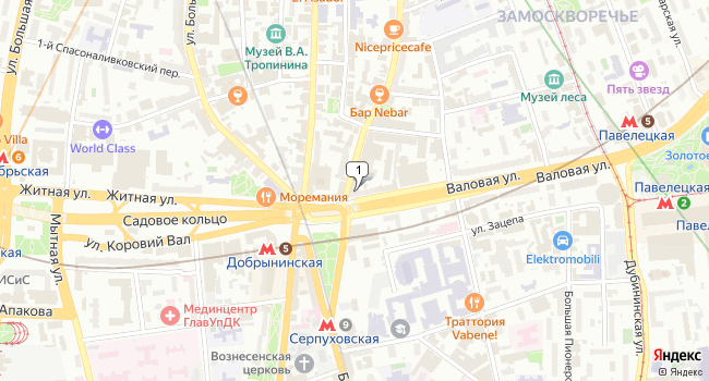 Арендовать офис 23.5 м<sup>2</sup> в Москве по адресу Россия, Москва, Валовая улица, 32/75с1