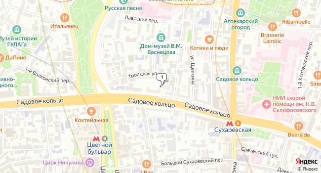 Арендовать отдельное здание 735 м<sup>2</sup> в Москве по адресу Россия, Москва, Садовая-Сухаревская улица, 15с1