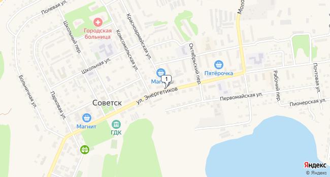 Купить офис 188 м<sup>2</sup> в Советске по адресу Россия, Тульская область, Щекинский район, Советск