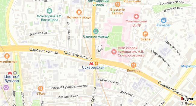 Арендовать кафе-ресторан 220 м<sup>2</sup> в Москве по адресу Россия, Москва, проспект Мира, 6