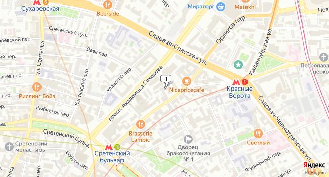 Купить офис 1332 м<sup>2</sup> в Москве по адресу Россия, Москва, Мясницкая улица, 43с2