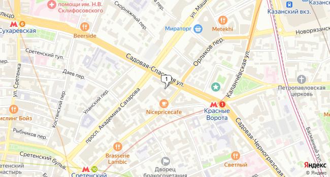 Арендовать кафе-ресторан 380 м<sup>2</sup> в Москве по адресу Россия, Москва, Садовая-Спасская улица, 20с1
