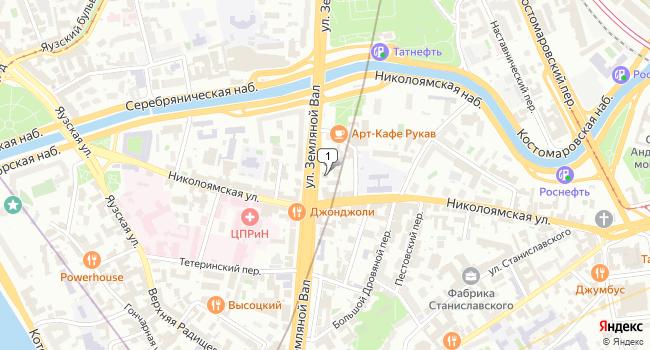 Купить офис 1065 м<sup>2</sup> в Москве по адресу Россия, Москва, улица Земляной Вал, 65с2