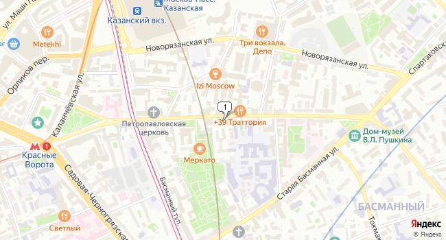 Купить коммерческую недвижимость 153 м<sup>2</sup> в Москве по адресу Россия, Москва, Новая Басманная улица, 18с1