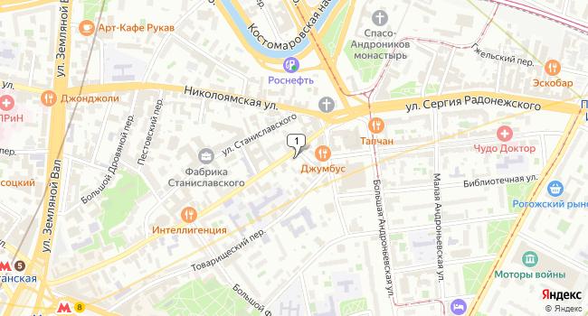Купить коммерческую недвижимость 1040 м<sup>2</sup> в Москве по адресу Россия, Москва, улица Александра Солженицына, 38