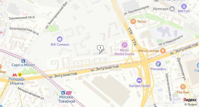Арендовать офис 425 м<sup>2</sup> в Москве по адресу Россия, Москва, улица Золоторожский Вал, 11с2