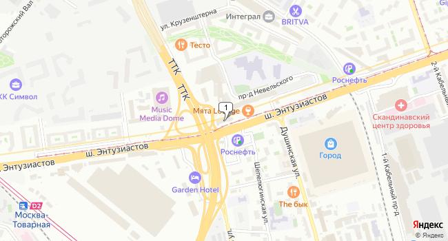 Арендовать офис 340 м<sup>2</sup> в Москве по адресу Россия, Москва, шоссе Энтузиастов, 7