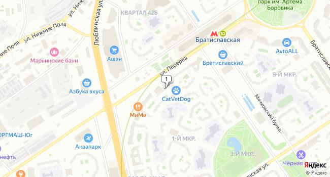 Арендовать отдельное здание 343 м<sup>2</sup> в Москве по адресу Россия, Москва, улица Перерва, 54